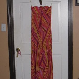Gorgeous strapless maxi with bead accent